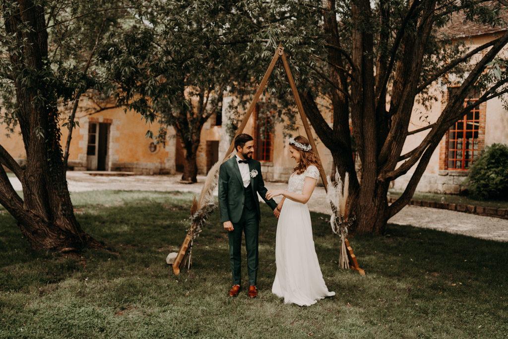 sofie serfati robe mariage mariée laurene and the wolf commanderie de dormelles