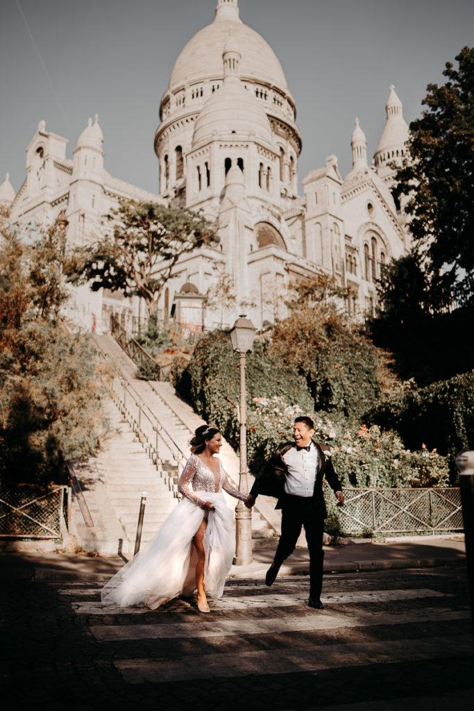 Elopement Wedding in Paris Basilique Sacré Coeur Montmartre