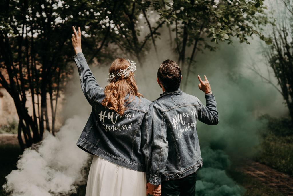 fumigènes couple mariage rock
