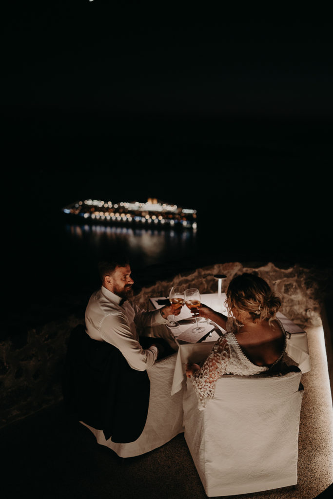 laurene and the wolf elopement santorin julia and evita 165 683x1024 - Santorini elopement : Katie + James