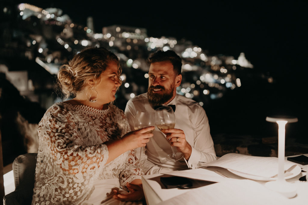 laurene and the wolf elopement santorin julia and evita 169 1024x683 - Santorini elopement : Katie + James