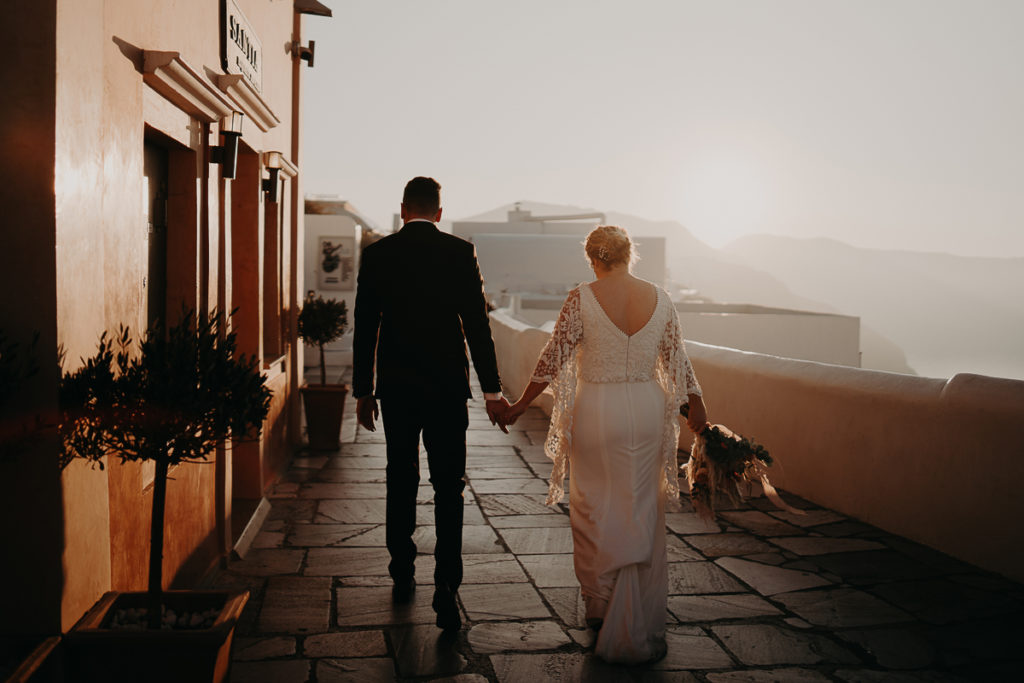 laurene and the wolf elopement santorin julia and evita 177 1024x683 - Santorini elopement : Katie + James