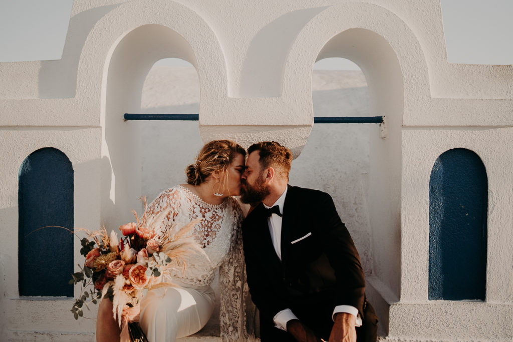 laurene and the wolf elopement santorin julia and evita 189 1024x683 - Santorini elopement : Katie + James