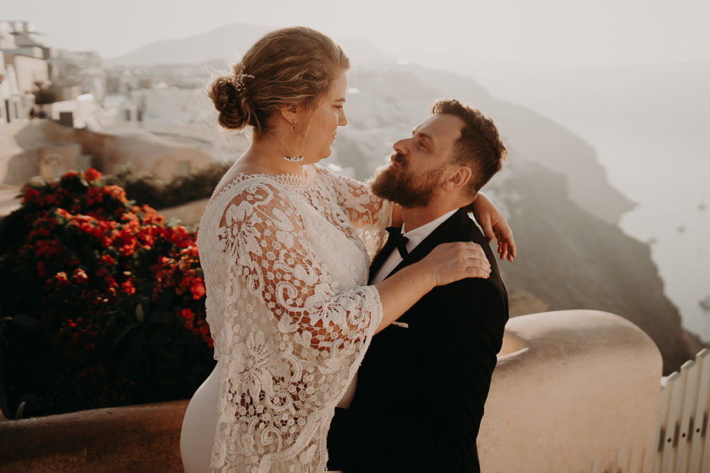laurene and the wolf elopement santorin julia and evita 191 1024x683 - Santorini elopement : Katie + James