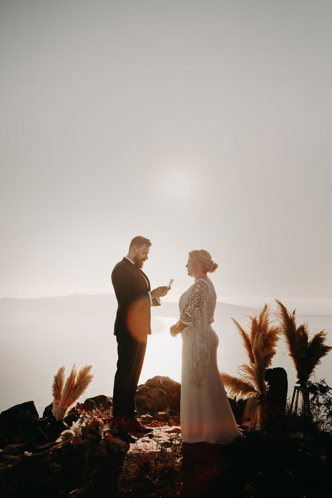 laurene and the wolf elopement santorin julia and evita 96 1 683x1024 - Santorini elopement : Katie + James